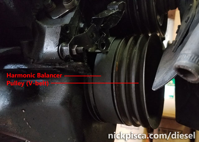 how to stop harmonic balancer from spinning