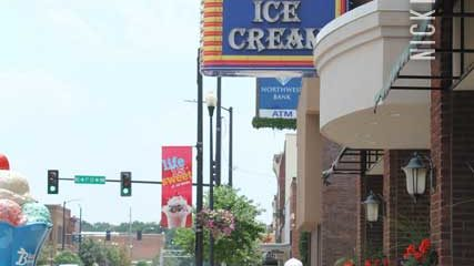 Blue Bunny Ice Cream Parlor in Le Mars Iowa