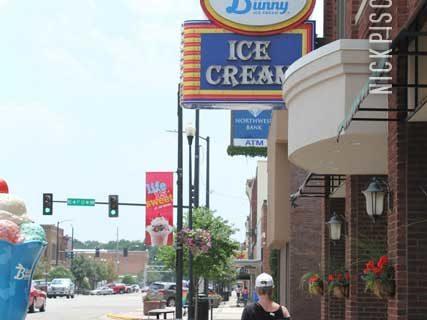Blue Bunny Ice Cream Parlor in Le Mars Iowa
