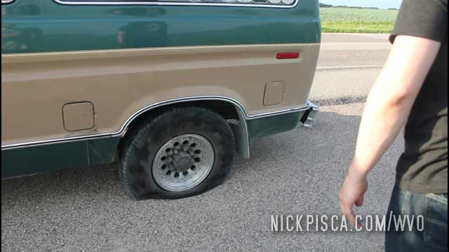 Flat Tire in Central Saskatchewan