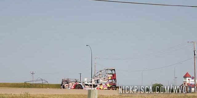 North Battleford Burned Out Bus