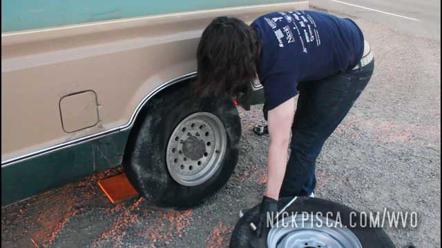 Another Flat Tire on the 2017 Trip