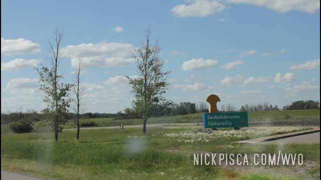 Entering Rural Saskatchewan.