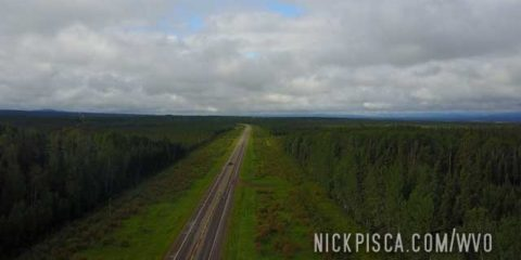 Aerial View of the Alaska Hwy