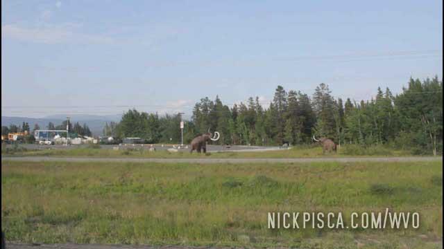 Whitehorse Mastodon Sculptures