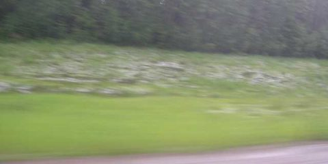 Hail Storm on the Alcan Highway!