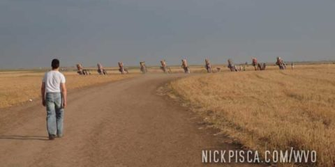 Cadillac Ranch and Big Tex in Amarillo