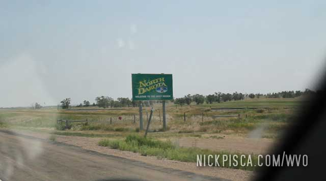 Crossing into North Dakota