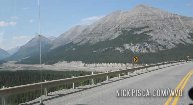 MacDonald River Valley on the Alaska Highway