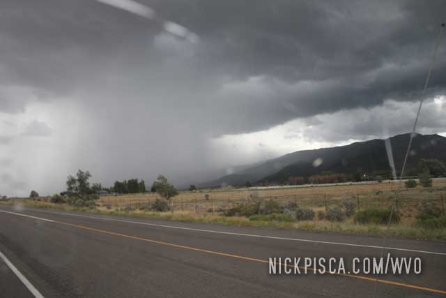 Desert Rains near Richfield Utah