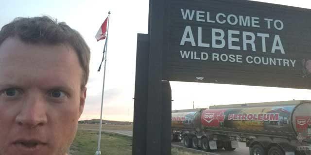 Alberta – Saskatchewan Border Crossing on the THC