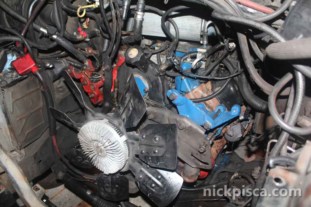 73 To 69 Swap In A E250 Clubwagon Van With Photos Idi Online Ip Wiring Harness Eventually We Extracted The Ps Pump Turbo Kit Injectors Injector Lines And Other Stuff Since Im Planning On Running