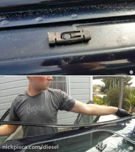 These heavy duty clips keep your top weatherstripping in place.