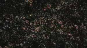 "Screen capture of Nova's ""Monster of the Milky Way"" 2009.  Black Hole Identification of known galaxies animation."