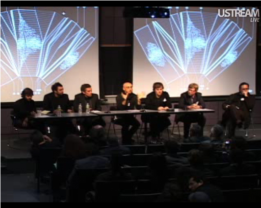 Screencapture of the Parametric Techniques Panel on the Intensive Fields Webfeed, captured by Gustavo Rincon.