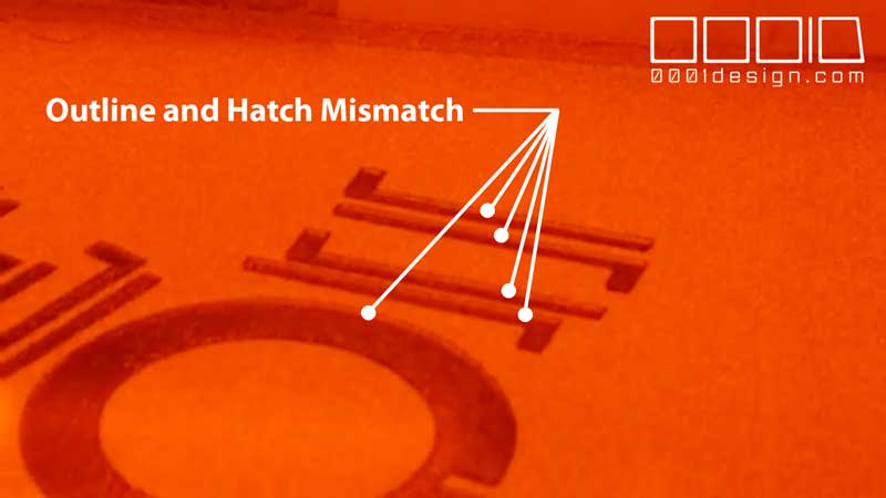 Video of Third Test Print with the Sintratec Kit, Showing Slight Deviation between Outlines and Hatching