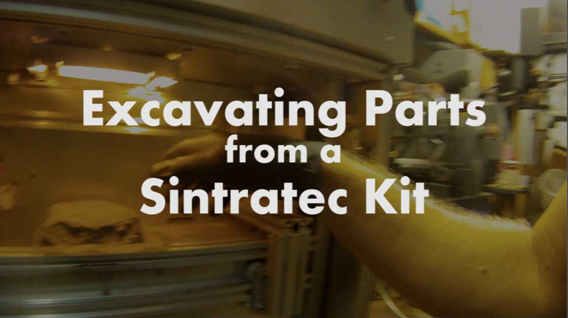 Excavating Sintratec SLS Prints