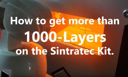Massive 3D Print Job – 1066 Layers on the Sintratec Kit, and How I Got There.