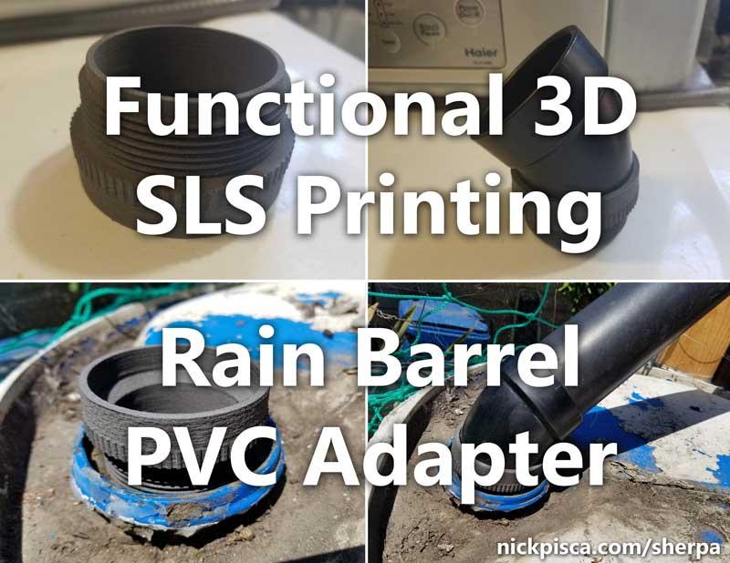 Functional 3D Printing | Rain Barrel PVC Adapter [VIDEO]