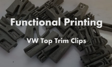 Functional 3D Printing | VW Top Trim Clips