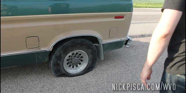 Flat Tire in Central Saskatchewan