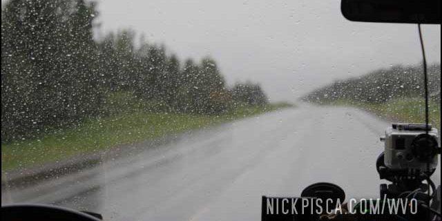 Raining north of Pink Mountain