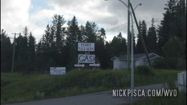 Heading into Fort Nelson