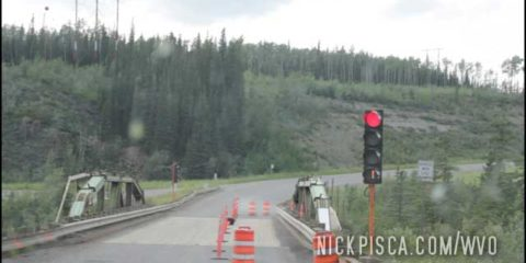 One-lane Bridge Construction north of Whitehorse