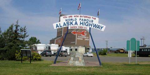 Start of the Alaska Hwy in Dawson Creek