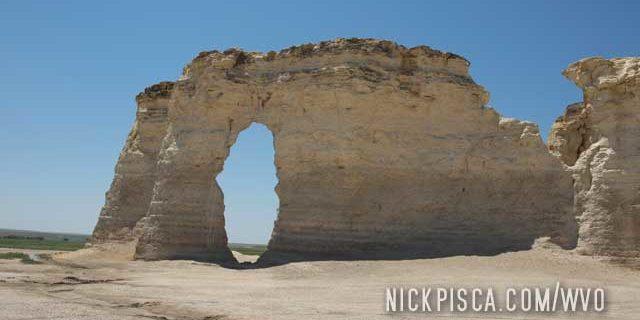 Monument Rocks in Kansas
