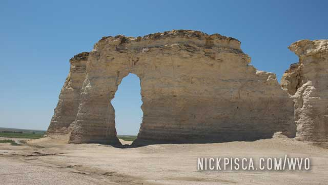 Monument Rocks in Kansas