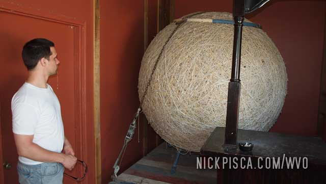 Largest Ball of String at the Weston Brewing Company