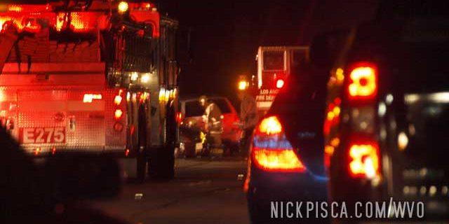 Crash on I-5 near Cajon Pass
