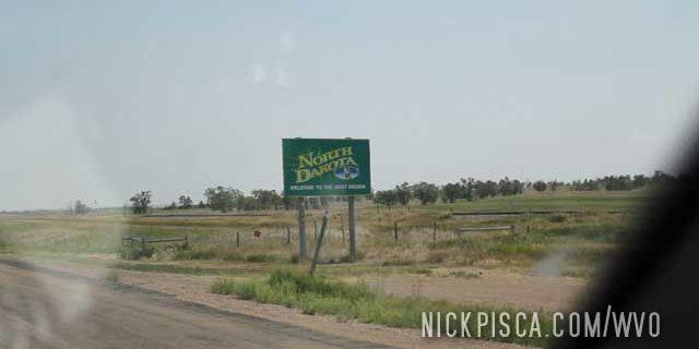 Crossing into North Dakota