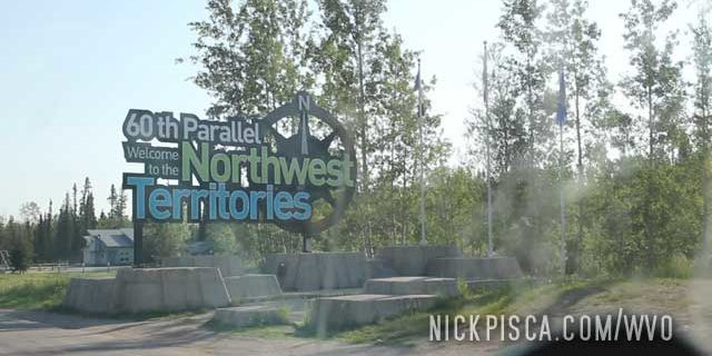 Crossing into the Northwest Territories