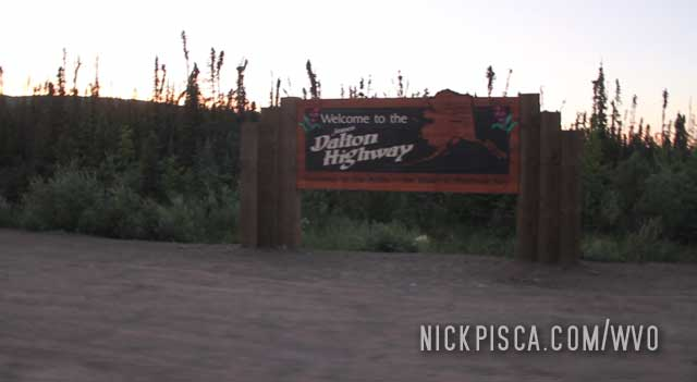 Start of the Dalton Highway