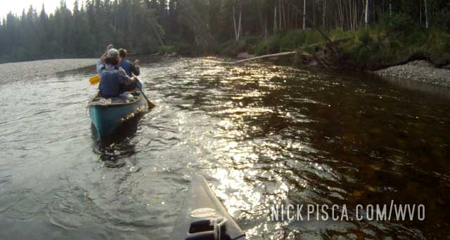 Canoeing the Chena River near Fairbanks