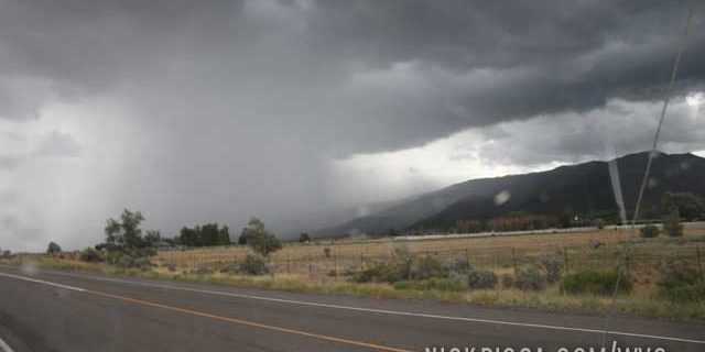 Desert Rains near Richfield Utah