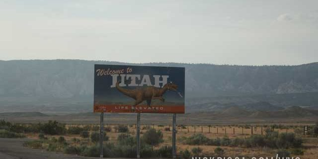 Welcome to Utah on Highway 40