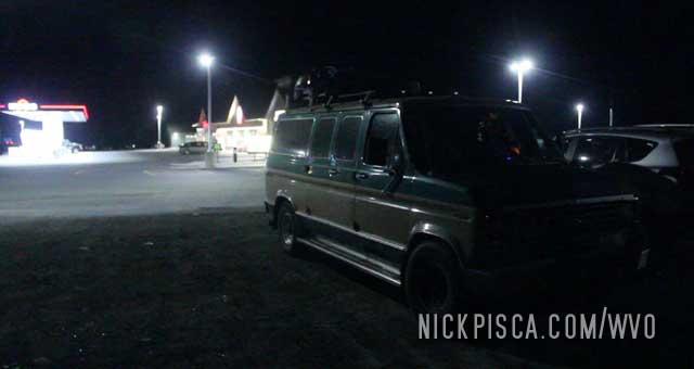 Sleeping in the van near Clarenville