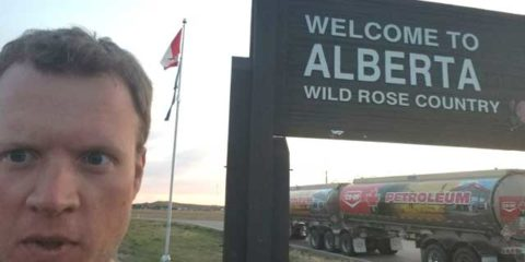 Alberta – Saskatchewan Border Crossing on the THC